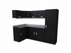 Moduline Black Select Series Garage Corner Cabinet Combination #SEGC010-010C
