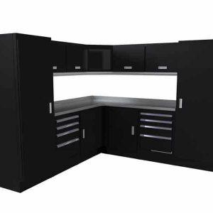 Select™ SERIES Garage Corner Cabinet Combination 8′ X 8′ Wide #SEGC014-010C