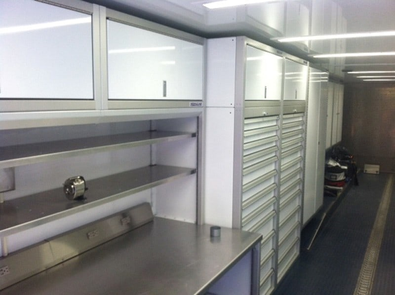 Moduline Storage Cabinets for Enclosed Trailers