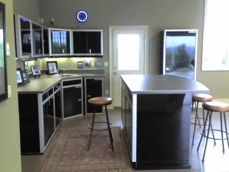 Custom Aluminum Kitchen Cabinet Organization System