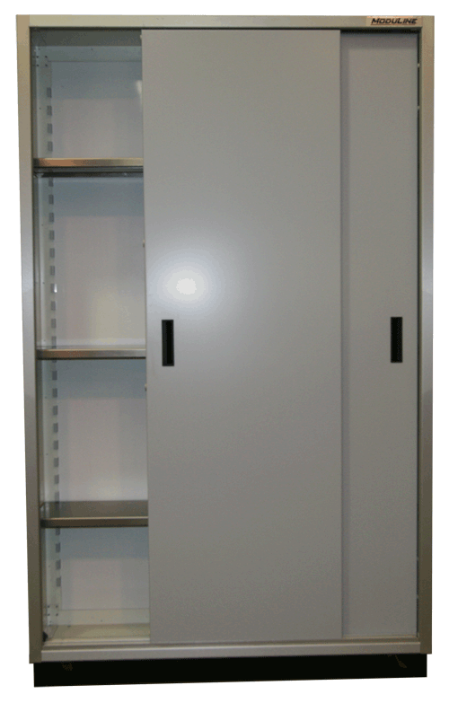 Open Moduline Space Saver Sliding Door Cabinet