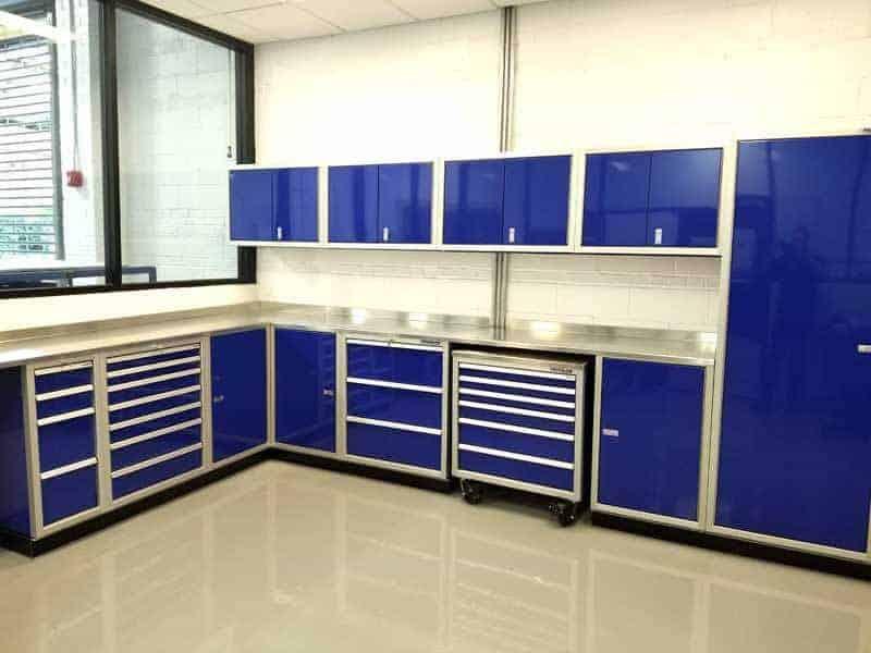 Superieur Blue Aluminum Cabinets U0026 Mobile Tool Box
