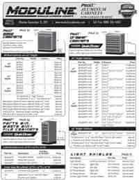 Moduline Aluminum Garage Cabinets Catalog Price List