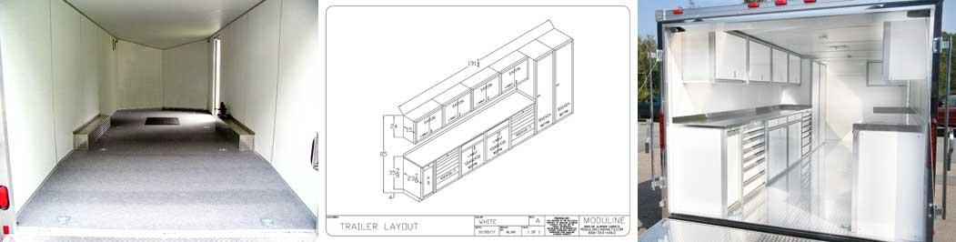 Moduline consultative trailer cabinet design