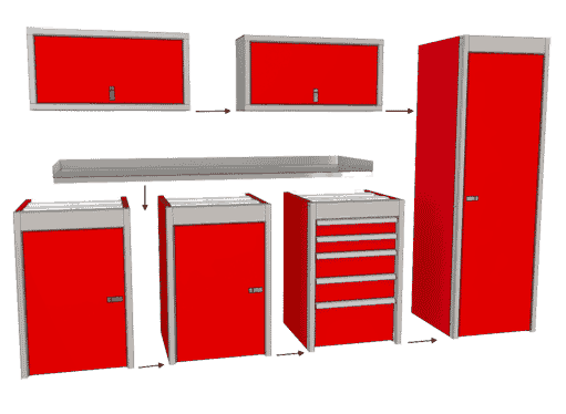 Moduline SportsmanII™ Cabinets are Modular and easy to install