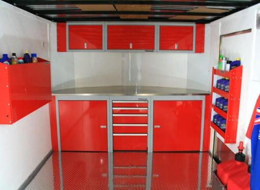 Moduline SportsmanII™ V-nose trailer cabinet kits