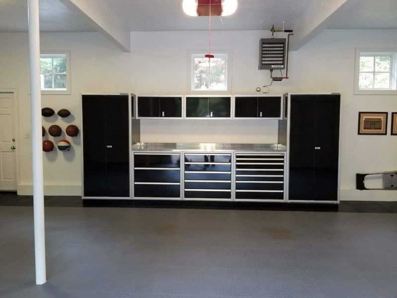 Black Aluminum Garage Cabinets For Storage
