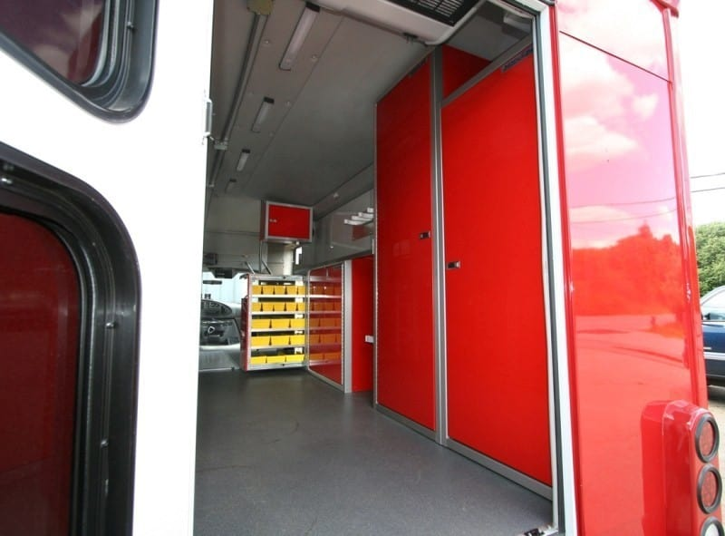 Closet Cabinets in Fire Rescue Truck for Storage