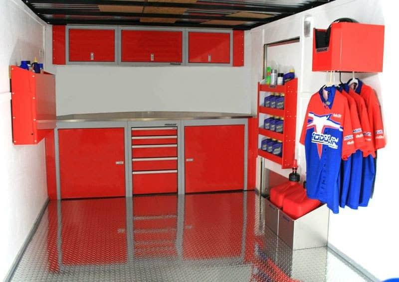 Custom Aluminum Storage Cabinets in Vehicle