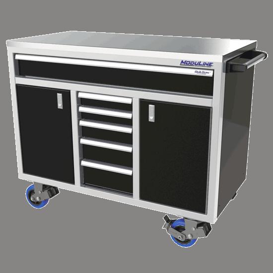 ProII™ SERIES Big Drawer Aluminum Mobile Tool Box With 2 Doors