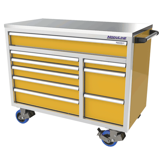 ProII™ SERIES Big Drawer Aluminum Mobile Tool Box With 9 Drawers