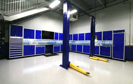 Custom Garage & Shop Aluminum Cabinet Systems
