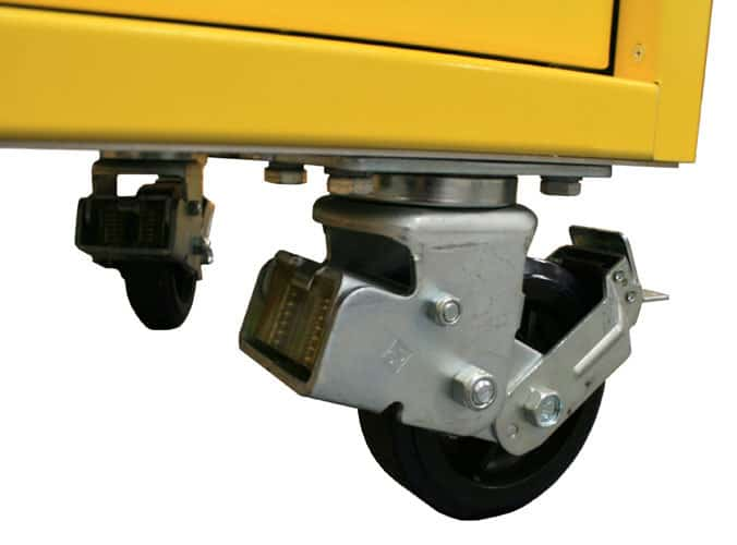 6″ Diameter Heavy Duty Shock-Absorbing, Locking Casters