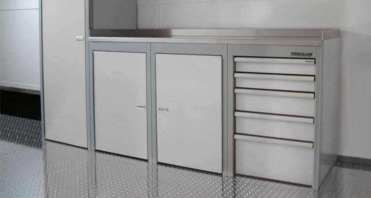 Sportsman II Aluminum Tool Box And Base Cabinets