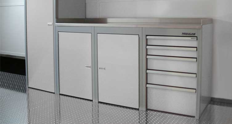 Sportsman II Aluminum Tool Box And Base Cabinets