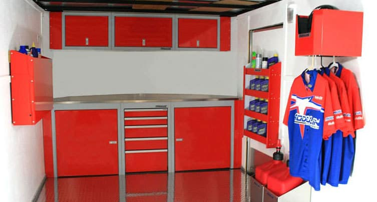 Race Enclosed Trailer Aluminum Cabinets