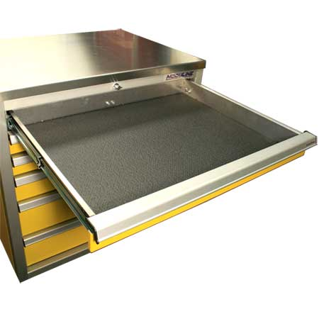 Drawer Liner for Aluminum Cabinet Systems