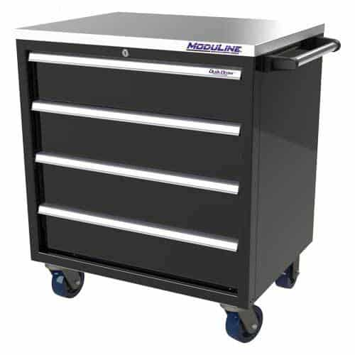 """Black QuikDraw® 32"""" Wide Aluminum Tool Box #382432CMFTB-04E-L"""