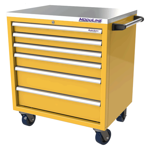 Yellow QuikDraw® Aluminum Tool Box
