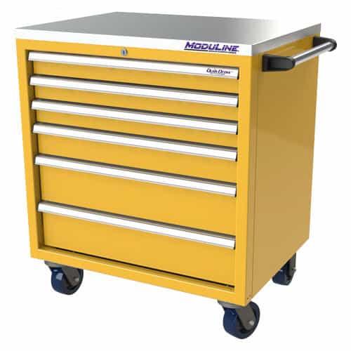 "Yellow QuikDraw® 32"" Aluminum Tool Box"