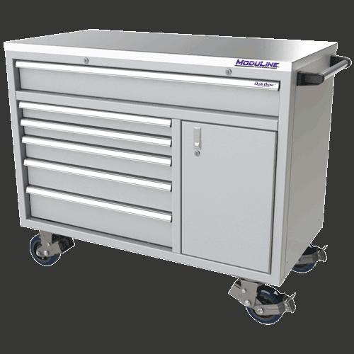 Moduline Light Gray QuikDraw Aluminum Mobile Tool Box