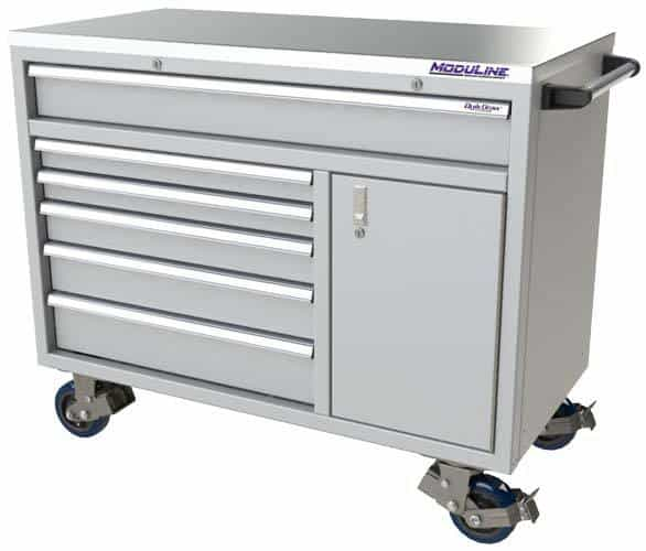 "Light Gray QuikDraw® 48"" Wide Aluminum Mobile Tool Box"