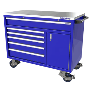 QuikDraw® 48″ Aluminum Tool Box With 6 Drawers, 1 Door