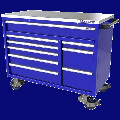 Moduline Blue QuikDraw Aluminum Tool Box