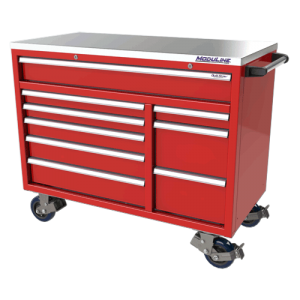 QuikDraw® 48″ Aluminum Tool Box With 9 Drawers