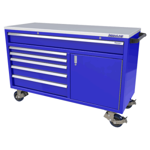 QuikDraw® 60″ Aluminum Tool Box With 6 Drawers, 1 Door