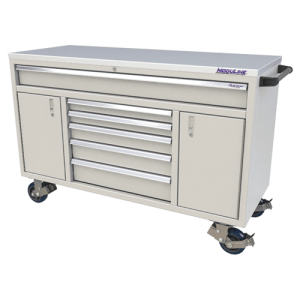 QuikDraw® 60″ Aluminum Tool Box With 6 Drawers, 2 Doors