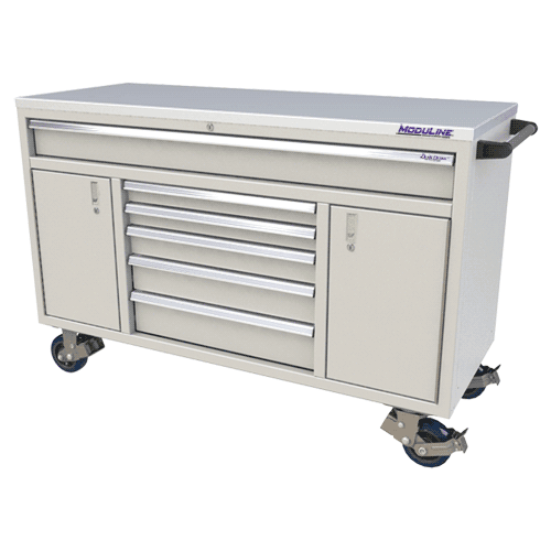 "Moduline Light Gray 60"" Wide QuikDraw® Aluminum Tool Box"