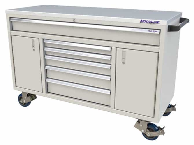 "Light Gray QuikDraw® 60"" Aluminum Tool Box"