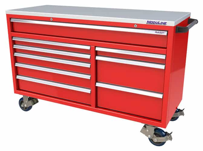 "Red QuikDraw® 60"" Aluminum Tool Box"