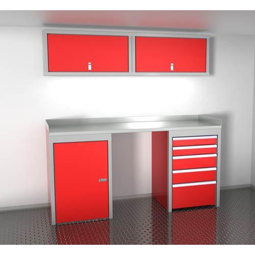 Red 6 Foot Wide Sportsman II™ Cabinet Combination SPTC006-050