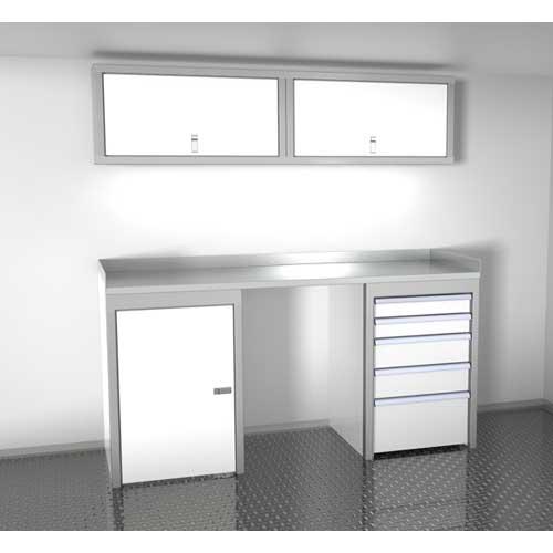 White 6 Foot Wide Sportsman II™ Cabinet Combination SPTC006-050