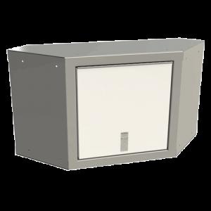 SportsmanII Aluminum Overhead Corner Cabinet 18″H X 11″D X 24″W