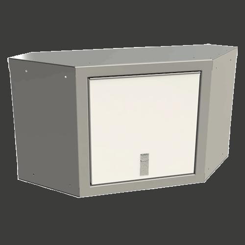 "Sportsman II™ Aluminum Overhead Corner Cabinet 18""H X 11""D X 24""W"
