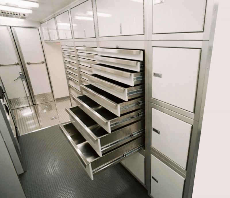 Moduline Cabinets Military-Grade Aluminum Trailer Cabinets