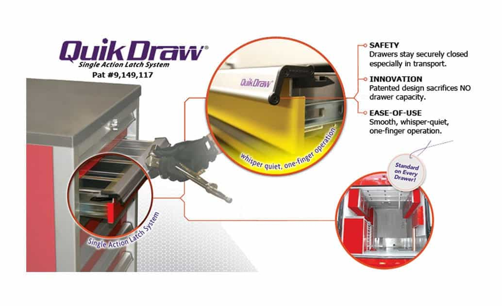 Moduline Patented QuikDraw® Mobile Tool Box