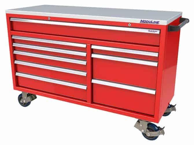Moduline Red Aluminum Mobile Tool Box