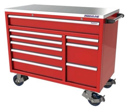 "Moduline 48"" Aluminum Toolbox in Red"