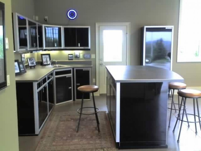 Custom Kitchen Aluminum Metal Cabinets Durable