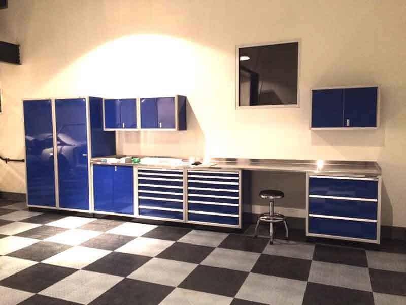 Garage Office Aluminum Cabinet Organization Ideas