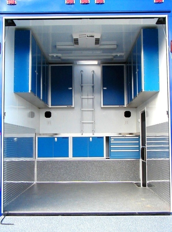 Lightweight Military-Grade Enclosed Trailer Aluminum Cabinets