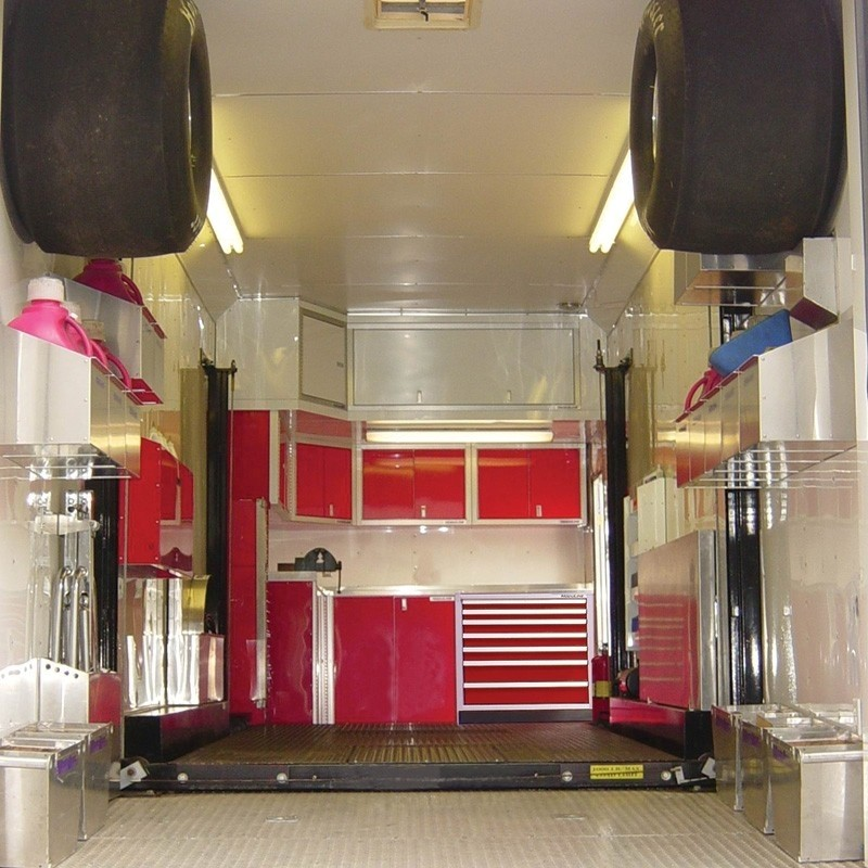 Enclosed Trailer Military-Grade Aluminum Racing Cabinets