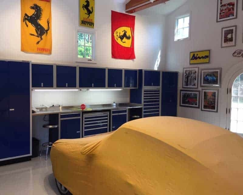 Garage Makeover Idea with Custom Aluminum Storage Cabinets
