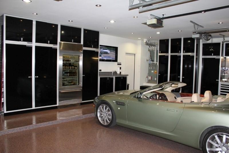 Moduline Black Military-Grade Aluminum Garage Cabinets