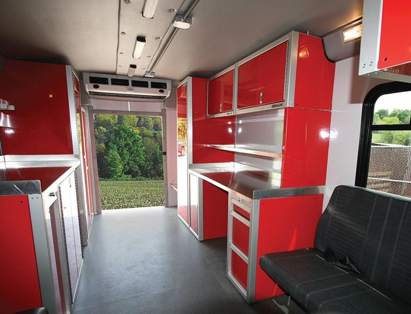 Van Upfit Military-Grade Lightweight Aluminum Cabinets