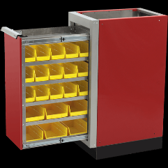 Enclosed Trailer Aluminum Parts Bin Cabinets